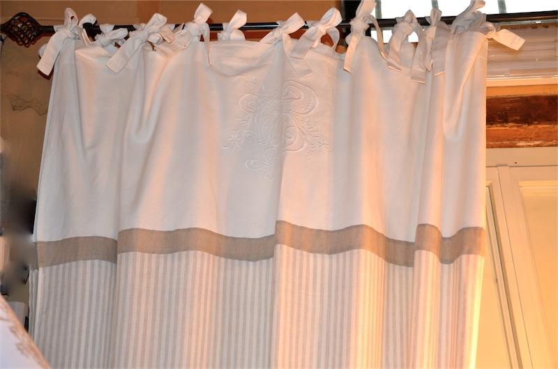 Tenda STRIPES Colore : BIANCO-TORTORA/ WHITE-TAUPE